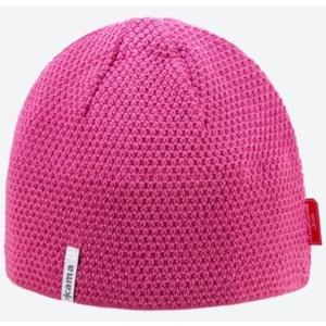 Dzianinowy Merino czapka Kama AW62 114 różowa, Kama