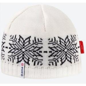 Dzianinowy Merino czapka Kama AW64 101 naturalnie biała, Kama