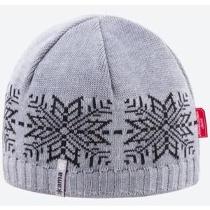 Dzianinowy Merino czapka Kama AW64 109 jasno siwy, Kama