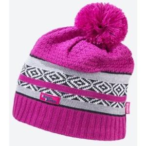 Dzianinowy Merino czapka Kama KW06 114 różowa, Kama