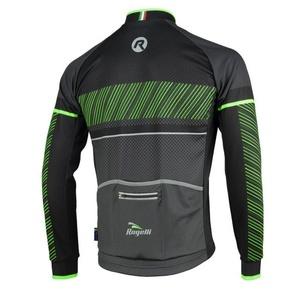 koszulka rowerowa Rogelli RITMO z długim rękawem, 001.256. czarno-zielony, Rogelli