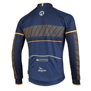 koszulka rowerowa Rogelli RITMO z długim rękawem, 001.257. niebiesko-pomarańczowy, Rogelli