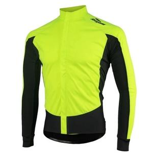 koszulka rowerowa Rogelli W2, 001.850 odblaskowy żółto-czarne, Rogelli