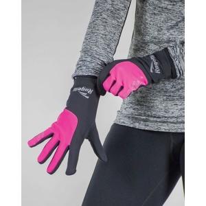Damskie do biegania zimowy rękawice Rogelli Touch, 890.004. czarny odblaskowy rużowy, Rogelli