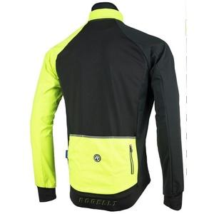 Męska softshellowa kurtka Rogelli Contento, 003.140 czarny odblaskowy żółty, Rogelli