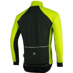 Męski rowerowy bluza Rogelli All Seasons, 004.024. odblaskowy żółty i czarny, Rogelli