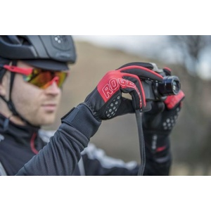 Męskie rowerowe rękawice Rogelli Storm, 006.126. czarno-czerwony, Rogelli