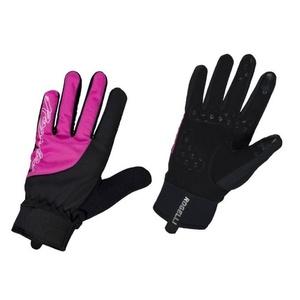 Damskie rowerowe rękawice Rogelli Storm, 010.656. czarno-różowy, Rogelli