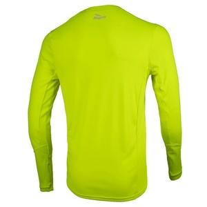 Sportowe funkcjonalne koszulka Rogelli BASIC z długim rękawem, 800.260. odblaskowy żółty, Rogelli