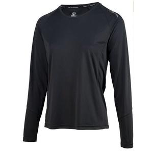 Damskie sportowa funkcjonalne koszulka Rogelli BASIC z długim rękawem, 801.254. czarne, Rogelli