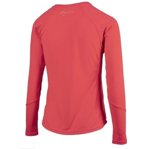 Damskie sportowa funkcjonalne koszulka Rogelli BASIC z długim rękawem, 801.255. rużowy, Rogelli