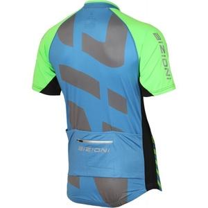 Cyklo bluza Lasting MD74 niebiesko-zielony, Lasting