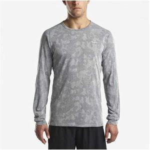 Męskie koszulka z długim rękawem Saucony Men Negatyw-Splt Jacquard Ls Dark Grey, Saucony