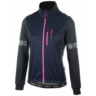 Ultralekka kobiety kurtka rowerowa Rogelli TRANSITION bez izolacja, niebiesko-różowy 010.316, Rogelli