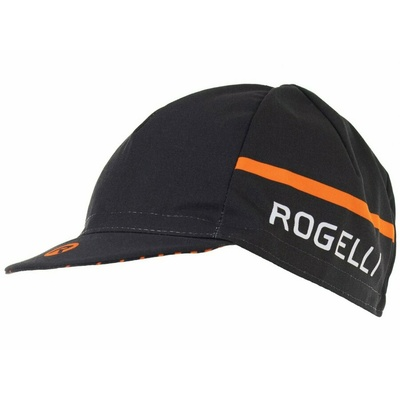 Rowerowa czapka z daszkiem pod kask Rogelli HERO, czarno-pomarańczowy 009.974