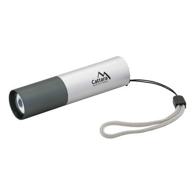 Lampa kieszeniowe LED Cattara 120lm ZOOM do ładowania SILVER, Cattara