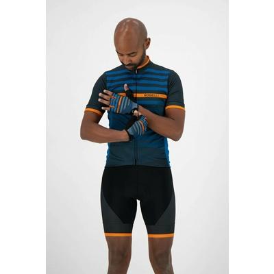 Rekawice rowerowe Rogelli STRIPE, niebiesko-pomarańczowa 006.312, Rogelli