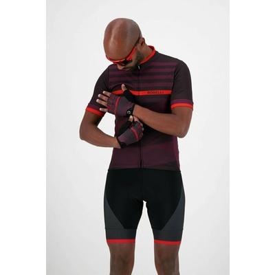 Rekawice rowerowe Rogelli STRIPE, bordowo-czerwony 006.313, Rogelli