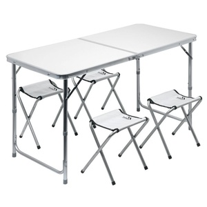 Stół kempingowy składana Cattara DOUBLE teleskop. siwy + 4x krzesło, Cattara