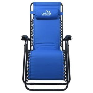 Leżanka / fotel Cattara LIVORNO niebieskie, Cattara