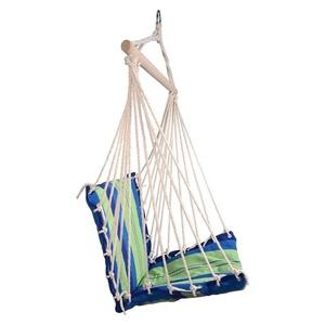 Hamak siatka do sziedzenia Cattara Hammock Chair niebiesko-zielony, Cattara