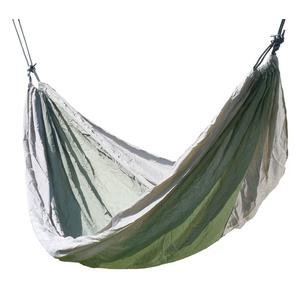 Hamak siatka do sziedzenia Cattara NYLON 275x137cm zielono-brązowy, Cattara