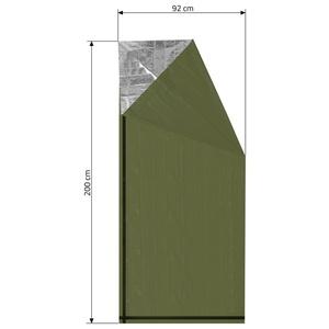 Izotermiczny folia Cattara SOS zielony walec 200x92cm, Cattara