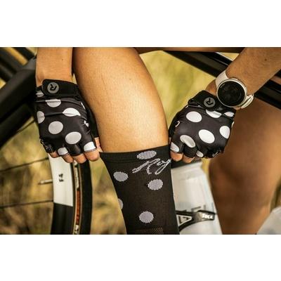 Damskie rękawice rowerowe Rogelli SPRINKLE, czarno-biały 010.617, Rogelli