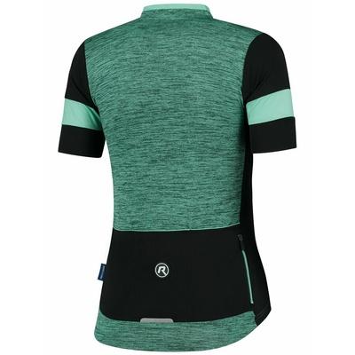 Damski koszulka rowerowa Rogelli UROK 2.0 z krótkim rękawem, turkusowo-czarny 010.103, Rogelli