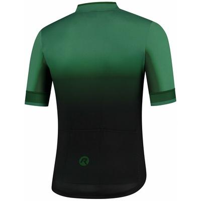 Projekt koszulka rowerowa Rogelli HORIZON z krótkim rękawem, czarno-zielony 001.417, Rogelli