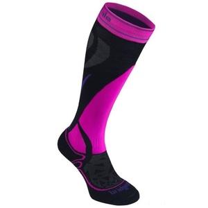 Skarpety Bridgedale Ski Midweight Women's black/fluo pink/077, bridgedale