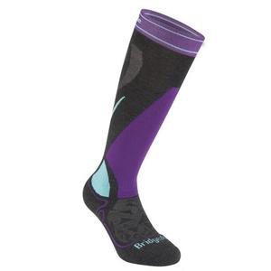 Skarpety Bridgedale Ski Midweight Women's graphite/purple/134, bridgedale