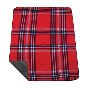 Piknikowa koc z paskiem Spokey PICNIC HIGHLAND, czerwona, Spokey