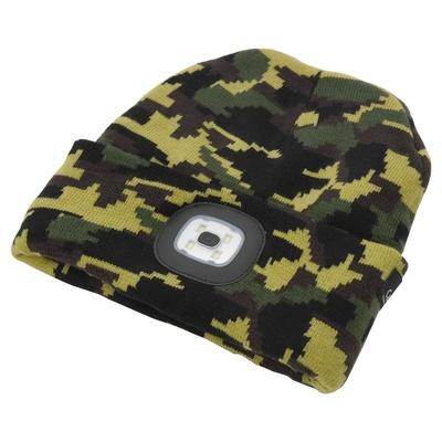 czapka ARMY z LED lampką Cattara USB ładowanie, Cattara