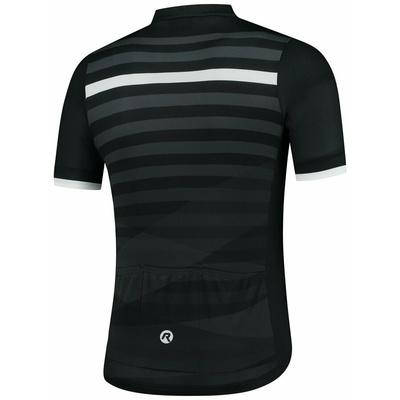 koszulka rowerowa Rogelli STRIPE z krótkim rękawem, czarno-biały 001.100, Rogelli