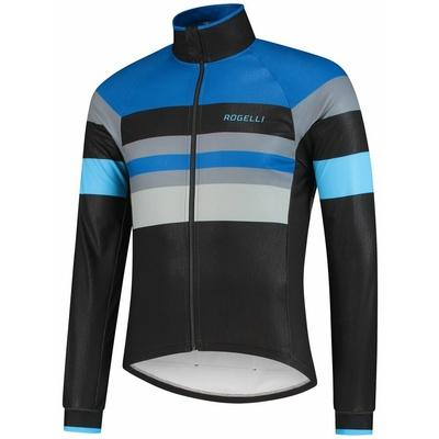 Ultralekka rowerowa kurtka Rogelli PEAK, czarno-niebiesko-szary 003.035, Rogelli