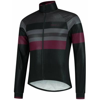 Ultralekka rowerowa kurtka Rogelli PEAK, czarno-szaro-bordowy 003.036, Rogelli