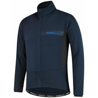 Softshellowa kurtka rowerowa Rogelli BARIERA z grzywna izolacją, niebieska 003.136, Rogelli