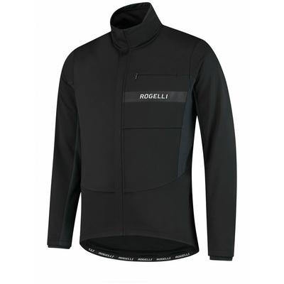Softshellowa kurtka rowerowa Rogelli BARIERA z grzywna izolacją, czarny 003.137, Rogelli