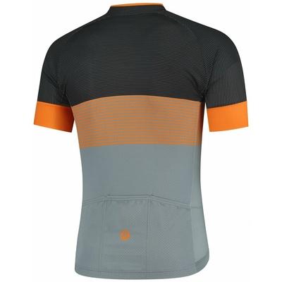 Aerodynamiczny wyścigowa koszulka rowerowa Rogelli BOOST z krótkim rękawem, szaro-czarno-pomarańczowy 001.119, Rogelli