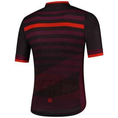 koszulka rowerowa Rogelli STRIPE z krótkim rękawem, czarno-bordowo-czerwony 001.103, Rogelli