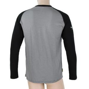 Męskie koszulka Sensor Merino DF Adventure długi rękaw szary / czarny 19100007, Sensor