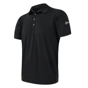 Męskie polo koszulka Sensor Merino Active, czarny 19100002, Sensor