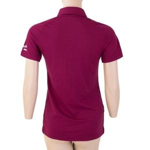 Damskie koszulka Sensor Active polo krótki rękaw lilla 19100005, Sensor