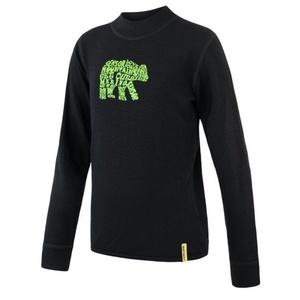 Dziecięce koszulka Sensor Merino DF Bear czarny, Sensor