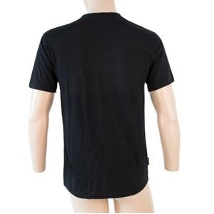 Męskie koszulka Sensor MERINO ACTIVE PT LABEL krótki rękaw czarny 18200015, Sensor