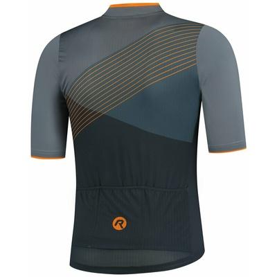 Aerodynamiczny koszulka rowerowa Rogelli SPIKE z krótkim rękawem, szaro-pomarańczowy 001.337, Rogelli