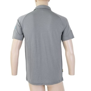 Męskie polo koszulka Sensor Merino Active, siwy 19100003, Sensor