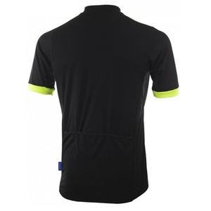 koszulka rowerowa Rogelli PERUGIA 2.0 z swobodniejszy cięciemm, czarno-odblaskowa żółty 001.005., Rogelli