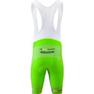 Męskie rowerowe spodnie Silvini Team Top MP1406 zielono-czerwony, Silvini